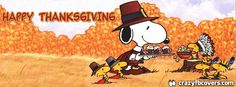Snoopy Happy Thanksgiving Facebook Cover Facebook Timeline Cover