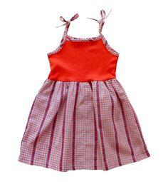 VINTAGE 70's / enfant / robe à bretelles / par Prettytidyvintage