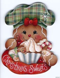 "HP GINGERBREAD ""Christmas Sweets"" FRIDGE MAGNET"
