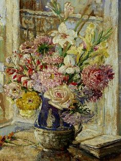 Emily Beatrice Bland Asters in a Wedgwood Jug 1926