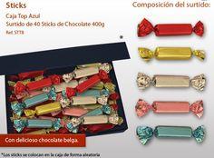 Sticks con una mejor cobertura del chocolate con leche belga y relleno de crema de avellanas y los cereales o crema y cereales. ¡No te resistas a la tentación!