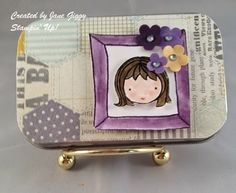 Jane decorated her fun tin with Sweetie Pie & Sweetie Pie Frames Photopolymer Sets. All supplies from Stampin' Up! except the tin.
