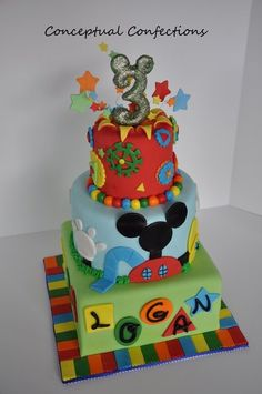 Mickey Mouse Club House Theme - by ConceptualConfection @ CakesDecor.com - cake decorating website
