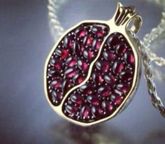 A beautiful silver pomegranate a gift from Deniz.