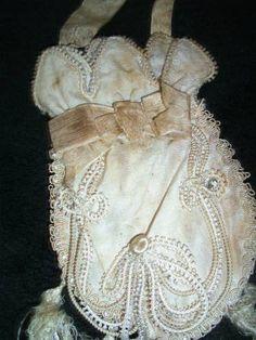 genuine french victorian silk purse!!