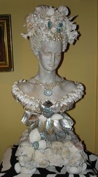 bust with shells