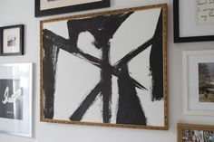 modern jane: DIY Abstract Brush Stroke Art.