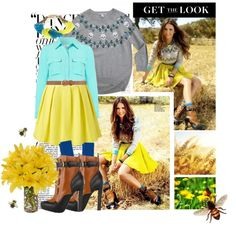 """""""Nina Dobrev Look"""" by catching-fire ❤ liked on Polyvore"""
