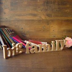 Big Family de madera para poner de pie