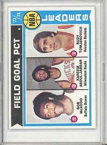 1974 1975 Topps 146 Leaders Kareem Abdul Jabbar Rudy Tomjanovich Bob McAdoo HOF | eBay