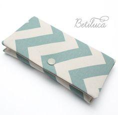 Handytasche  iPhone tasche Betiluca  Chevron Türkis  von Betiluca, €11.00