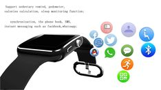 New Fashion X6 Curved Screen Bluetooth Smart Watch Clock With Camera Support SIM Card and SD Card Wristwatch For Android Phone - Good Spark Shop Good Spark Shop