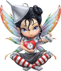 Jasmine Becket-Griffith Wizard of Oz Tinman. Cartoon Kunst, Cartoon Art, Fairy Wallpaper, Fairy Silhouette, Kobold, Butterfly Fairy, Gothic Fairy, Fairy Figurines, Baby Fairy
