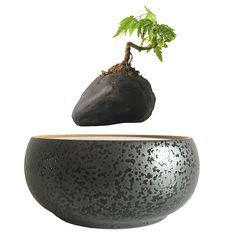 2017 japan magnetic levitation Floating Plants Ceramic Flower Pot bonsai pot best Gifts for Men free shipping (no plant) - free shipping worldwide