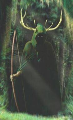 Herne the hunter  Category: Nymphy Forest Spirt, Beleived to protect nature and sometimes travelers.