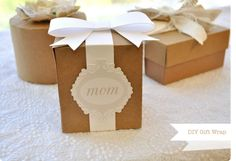 DIY Mother's Day gift wrap -- cut files from silhouette store