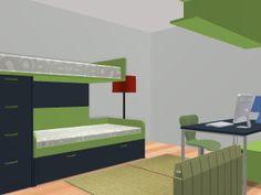composición litera o cama alta pequeños grandes espacios..... by @MOBLES CAMBRILS en Cambrils, Tarragona, Catalunya, Spain.