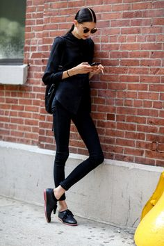 highqualityfashion:  Models' Street Style NYFW SS 15