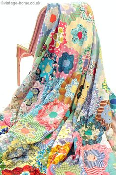 Love these old vintage quilts!! The color is wonderful!