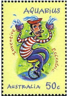 Australia-stamp-Aquarius