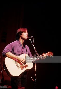 Jackson Browne performing at a 'Ban The Dam' concert at the Beacon Theater in…
