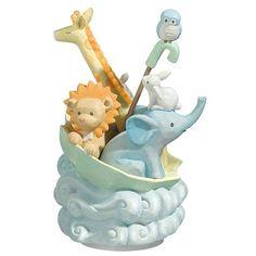 Noah's Ark Music Figurine for Nursery Boy or Girl, 470946
