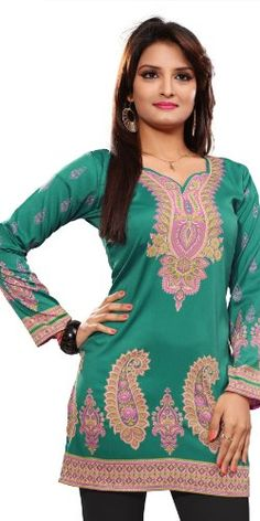 #Green #Designer Kurtis  For More Kurtis/Tunic Check this page now :-http://www.ethnicwholesaler.com/kurtis-tunics