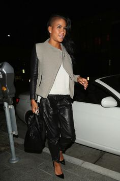 Cassie Wears Leather Joggers While Dining With Her Music Mogul Boyfriend Diddy In Beverly Hills - http://celeboftea.com/cassie-wears-leather-joggers-while-dining-with-her-music-mogul-boyfriend-diddy-in-beverly-hills/