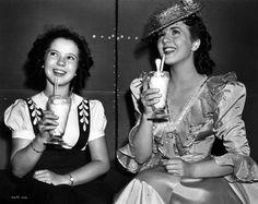 Shirley Temple and Deanna Durbin