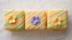 Lemon Petit Fours - Recipe Mash British Desserts, Mini Desserts, Just Desserts, Dessert Recipes, Cupcakes, Cupcake Cakes, Petite Fours Recipe, Eclairs, Sweets