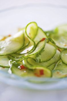 Thai Cucumber Salad with Sweet Chili Dressing