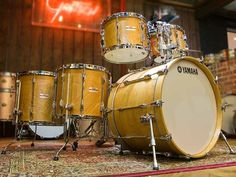 Yamaha Recording Custom9000 series 5-piece Drum Kit in Vintage Natural
