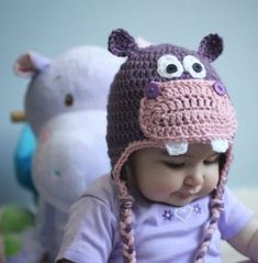 Repeat Crafter Me Crochet Owl Hat Pattern 41 Adorable Crochet Ba Hats Patterns To Make Repeat Crafter Me Crochet Owl Hat Pattern Crochet Owl Hat Free Pattern From Wwwrepeatcrafterme Ba Boy. Repeat Crafter Me Crochet Owl Hat Pattern Pin D. Crochet Hippo, Crochet Animal Hats, Bonnet Crochet, Crochet Kids Hats, Crochet Beanie, Cute Crochet, Crochet Crafts, Crochet Projects, Knit Crochet