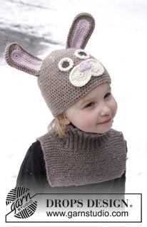 Gorro de conejo de Pascua a ganchillo y Peto de punto