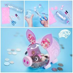 "Loving this sweet little tip: ""Make Your Own Piggy Bank Out Of A Soda Bottle! Great For Kids!"""