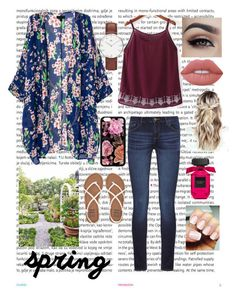 """""""Spring """" by raneliperera on Polyvore featuring Oris, DL1961 Premium Denim, WithChic, Billabong, Daniel Wellington and Lime Crime"""
