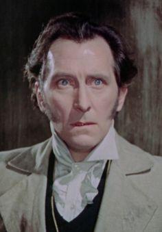"""The Curse of Frankenstein (1957)  Peter Cushing as """"Baron Victor von Frankenstein"""""""