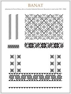 handmade by alina: Ce trebuie sa stim cand coasem o ie Folk Embroidery, Learn Embroidery, Embroidery Patterns, Cross Stitch Patterns, Cross Stitching, Beading Patterns, Blackwork, Needlework, Kitsch