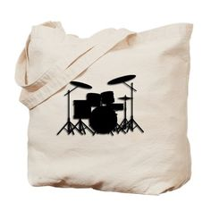 Drums canvas Tote Ba
