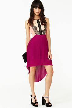 Laced Colorblock dress