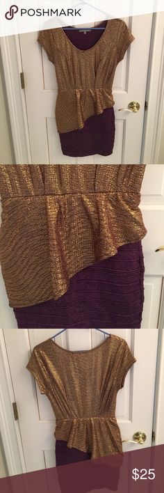 WOW Couture dress size M Bandage skirt on bottom with flattering sweep! This dress is so flattering!! WOW couture Dresses Mini