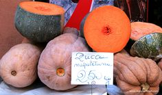 It's Zucca time! An Autumn favorite for soup, risotto, farro, pasta, vegetable sides. #italy #italian #zucca #squash #fitness #healthy #nutrition #paleo #healthy #vegan #vegetarian #travel #markets #vegetables