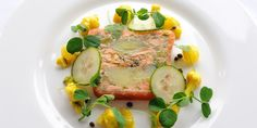 This spectacular smoked salmon terrine recipe is made with leeks and confit potato for remarkable flavour. Josh Eggleton's salmon terrine is excellent to make Salmon Terrine Recipes, Smoked Salmon Terrine, Burns Night Recipes, Soup Starter, Pan Fried Salmon, Potato Juice, Scottish Recipes, British Recipes, Recipes
