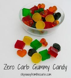 Zero Carb Gummy Candy - a sweet fruity treat! Sugar free, low carb.
