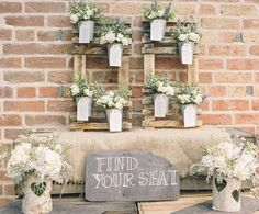 Rustic Wedding Table Plan with Flower Pots - The Wedding of My Dreams Table Seating Chart, Wedding Table Seating, Wedding Table Decorations, Reception Table, Decoration Table, Wedding Tables, Bridal Table, Tableau Marriage, Plant Table