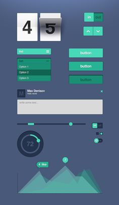 This is my simple ui green set App Ui Design, Interface Design, User Interface, Ui Buttons, Mobile App Templates, Simple Web Design, Information Visualization, Flat Ui, User Experience Design