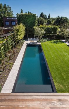 Pools For Small Yards, Small Backyard Pools, Backyard Pool Designs, Swimming Pools Backyard, Swimming Pool Designs, Small Patio, Outdoor Pool, Backyard Landscaping, Small Pool Design