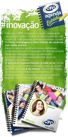 App do Facebook desenvolvido para a fan page da escola onde era possível personalizar a capa da agenda 2013. O usuário escolhia entre 3 modelos e montava a sua própria capa com fotos e mensagens personalizadas.