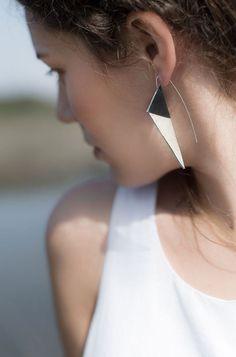 Aumorfia | Polygons | SS14 | V_SM leather earrings