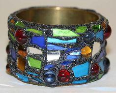 Bracelet. 1992.  Andrew Logan (British, born 1945.) Metal, plastic, synthetics.